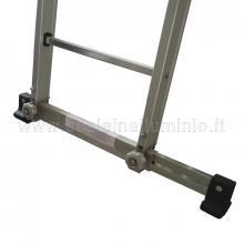 Scala con fune 2 rampe 10 gradini e base regolabile apertura base stabilizzatrice