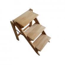 Sgabello 3 gradini in legno vario non verniciato