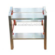 Scala in alluminio a doppia salita professionale 2 gradini particolare
