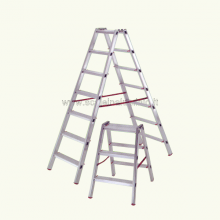 Scala in alluminio a doppia salita professionale 7 gradini
