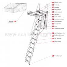 Scale retrattili per soffitte e sottotetti motorizzata 50 x 120 disegno