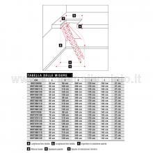 Scale retrattili per soffitte e sottotetti motorizzata 50 x 120 tabella misure