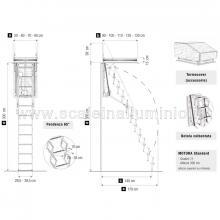 Scale retrattili per soffitte e sottotetti motorizzata 50 x 120 inglombri
