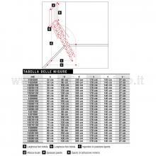 Scale retrattili a parete per soffitte e sottotetti oppure soppalchi 50 x 100 spessori e misure