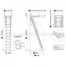 Scale retrattili 50 x 70 per soffitte e sottotetti sezioni