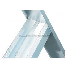 Scala per soppalchi in alluminio 600 mm 16 gradini senza prolunga particolare gradino