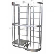 Piano di riposo - modulo di sdoppiamento H. 2.10 mt. per scale modulari con gabbia