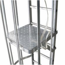 Piano di riposo interno per scala con gabbia per scale modulari con gabbia