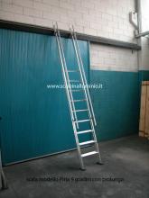 scale in alluminio - Scala piria 15 gradini con prolunga foto