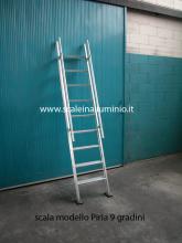 scale in alluminio piria 9 gradini particolare foto