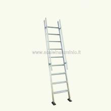 Scala per soppalchi 9 gradini con prolunga altezza 250 cm + 100 cm