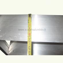 scale in alluminio - Scala piria 15 gradini con prolunga particolare 3