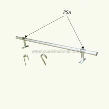 Staffa per soppalchi per fissare l'elemento tubolare al muro o altro supporto