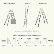 Scale in alluminio Telescopica - Scala Queen 66 misure