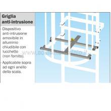 Griglia anti-intrusione per scale modulari con gabbia di protezione