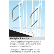 Maniglie di uscita per scala con gabbia di protezione