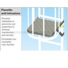 Pianetto anti-intrusione per scale modulari con gabbia di protezione