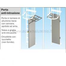 Porta anti-intrusione per scale modulari con gabbia di protezione