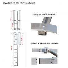 Scala con gabbia di protezione modulare n°10 particolari