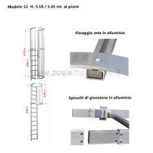 Scala con gabbia di protezione modulare n°12 particolari