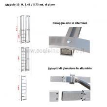 Scala con gabbia di protezione modulare n°13 particolari