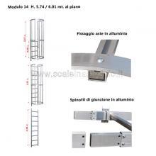 Scala con gabbia di protezione modulare n°14 particolari