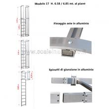 Scala con gabbia di protezione modulare n°17 particolari