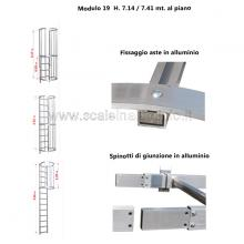 Scala con gabbia di protezione modulare n°19 particolari