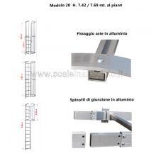 Scala con gabbia di protezione modulare n°20 particolari