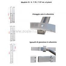 Scala con gabbia di protezione modulare n°21 particolari