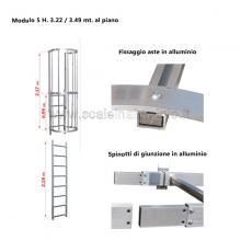Scala con gabbia di protezione modulare n°5 particolari