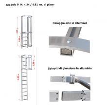 Scala con gabbia di protezione modulare n°9 particolari
