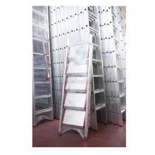 Sgabello in alluminio 4 gradini senza vaschetta imballata