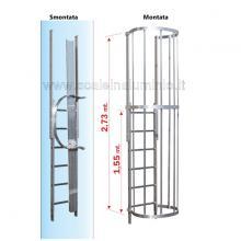 Scala con gabbia di protezione modulo finale T