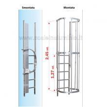 Scala con gabbia di protezione modulo finale TR