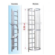 Scala con gabbia di protezione modulo intermedio s