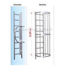 Scala con gabbia di protezione modulo intermedio s2