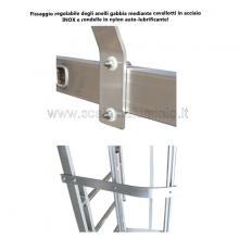 Scala con gabbia di protezione modulare n°8 particolari anelli