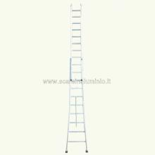 Scala componibile in alluminio 2 rampe 14 gradini a sfilo