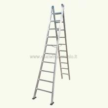 Scala in alluminio componibile 2 rampe 18 gradini