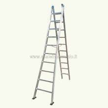 Scala componibile in alluminio 2 rampe 14 gradini