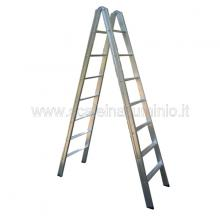 Scala in alluminio a doppia salita 15 gradini
