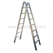 Scala in alluminio a doppia salita 8 gradini