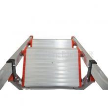 Sgabello in alluminio 5 gradini con vaschetta vista dall'alto