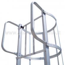 Scale in alluminio con gabbia di protezione