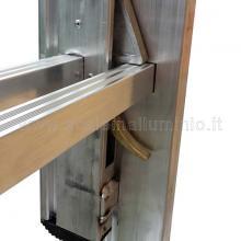 Scala con fune 4 rampe 10 gradini saltarello destro sistema di trattenuta e sgancio