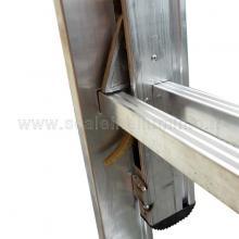 Scala con fune 4 rampe 10 gradini saltarello sinistro sistema di trattenuta e sgancio