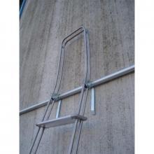 Scale con ganci in alluminio 7 gradini ganci di trattenuta