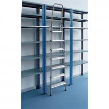 Scale con ganci in alluminio 7 gradini scaffalatura