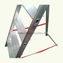 scale in alluminio Kicca 3 gradini dettaglio